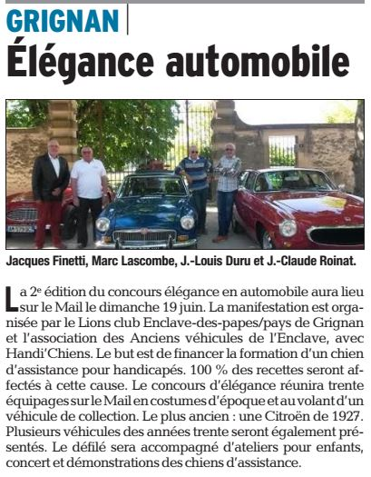 Article La Tribune du 30 Mai